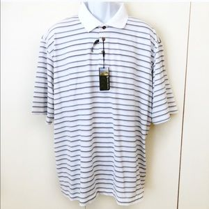 NWT Pebble Beach Men's Golf Polo Shirt 2XL Stripes